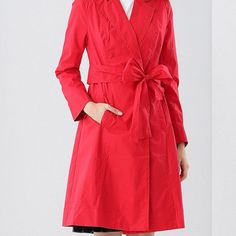 Lapel Belted Skirted Trench Coat  $79.99    Specification  Color: BLACK, RED  Size: S, M, L, XL  Category: Women > Outerwear > Jackets & Coats     Clothes Type: Trench  Material: Cotton,Nylon,Polyester  Type: Skirted  Clothing Length: Long  Sleeve Length: Full  Collar: Lapel  Pattern Type: Bowknot  Embellishment: Pockets  Style: Fashion  Season: Fall,Spring,Winter  With Belt: No  Weight: 0.500kg  Package Contents: 1 x Coat 1 x Belt