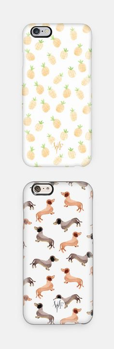 Pineapple iPhone Case & Dachshunds iPhone Case | Perfect Christmas gift idea! Available for iPhone 6, iPhone 6 Plus, iPhone 5/5s, Samsung Cases and many more.