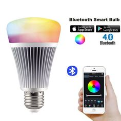 Generic Milight Bluetooth E27 8W RGBWarm WhiteCool White Color Changing CCT Color Temperature Changeable Smart LED Bulb Dimmable AC 85265 V Controlled By IOS IphoneAndroid Smartphone APP MiLight