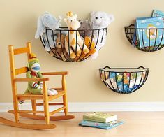 I love these garden baskets for storage ... perfect in a child's room but also great in just about any room in the house! Check out ... Babble ... for more GREAT toy storage ideas!