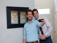 Scott Brother Selfies - HGTV's Property Brothers Bring the Fun to Home Reno on HGTV