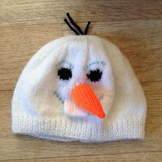 Olaf frozen hat. Child's sizes £6.50.