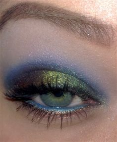 A peacock inspired look...