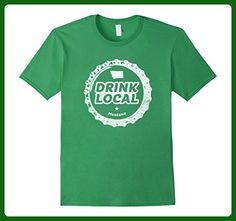 Mens Drink Local Montana Craft Beer Bottle Cap T-Shirt XL Grass - Food and drink shirts (*Amazon Partner-Link)