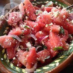 Feta-Wassermelonensalat mit Basilikum @ de.allrecipes.com