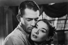 Audrey Hepburn y Gregory Peck en una escena del filme 'Vacaciones en Roma', dirigido por William Wyler.