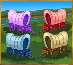 Grizzly's Gold is coming! When you get to the bonus round, you get to choose a covered wagon! Get ready…it's coming soon.