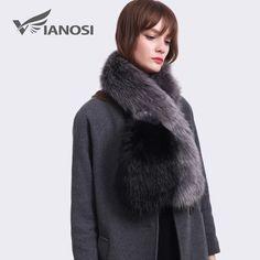 Happy Deal $13.61, Buy VIANOSI Fashion Winter Faux Fur Scarf Women Faux Fur Collar Colorful Patchwork Scarf Eco-friendly VA264