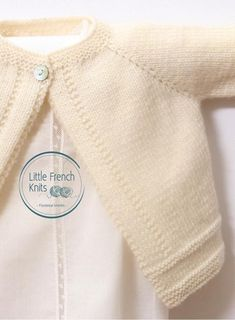 Knitting Pattern Baby Wool Cardigan Instructions in French PDF image 1 Baby Knitting Patterns, Baby Cardigan Knitting Pattern Free, Love Knitting, Circular Knitting Needles, Baby Patterns, Cardigan Bebe, Wool Cardigan, Crochet Fall, Knit Crochet