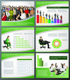 elements of business infographics template vector