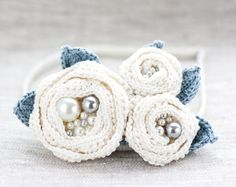 Crochet white brooch Crochet Flower brooch Crocheted by ArsiArt, $25.00