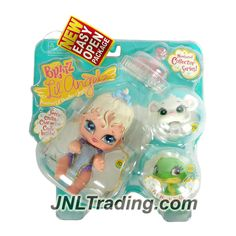 MGA Entertainment Bratz Lil Angelz Series 4 Inch Doll with 2 Pets Set - LILEE (#70), White Mouse (#76) and Green Gecko (#233)