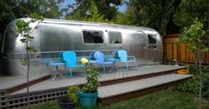 Marsha Heckman is the owner of this completely renovated 1969 Airstream International, and she's very right to be as proud of it as she is.