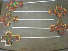 Easter cross cookie pops