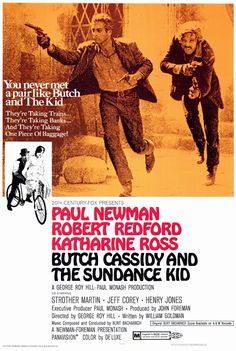 Paul Newman and Robert Redford only made two movies together: Butch Cassidy and the Sundance Kid, and The Sting. Both great movies!