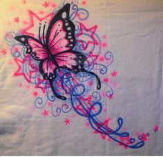 Butterfly+Stars-+Airbrush+by+vampireheartagram27.deviantart.com+on+@deviantART