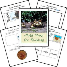 Lapbook Resources for Make Way for Ducklings from Homeschool Share Kindergarten Reading, Preschool Learning, Fun Learning, Author Studies, Unit Studies, Robert Mccloskey, Make Way For Ducklings, School's Out For Summer, Reading Themes