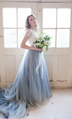 Pantone Serenity blue color of the year wedding dress | Karra Leigh Photography: