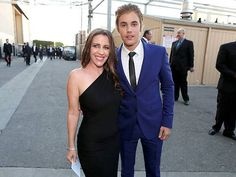 Justin Bieber with mother Patricia Mallette