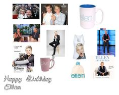 """Ellen Degeneres"" by jasmine4justin2bieber on Polyvore featuring art and ellen"