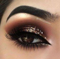 Hair Brown Cool Makeup Tutorials 50+ Ideas #hair #makeup #EyeMakeupGlitter Sparkly Makeup, Gold Eye Makeup, Makeup Eye Looks, Eye Makeup Art, Smokey Eye Makeup, Cute Makeup, Eyeshadow Makeup, Hair Makeup, Glam Makeup