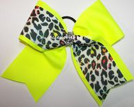 Items similar to Yellow Cheer Bow, Yellow Cheetah Dance Bow, Glitzy Neon Yellow Leopard Print Cheer Bow, Tic Toc Cheerleader Bow, Bulk Wholesale Cheerbows on Etsy Sparkly Cheer Bows, Big Cheer Bows, Cheer Hair Bows, Softball Bows, Cheerleading Bows, Girl Hair Bows, Big Bows, Girls Bows, Volleyball