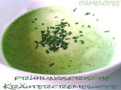 pamelopee: Frische Kräutercremesuppe (leicht säuerlich)