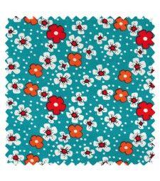 Coton Fleur des îles turquoise - Petit Pan