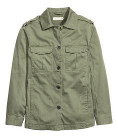 Cargo Jacket | Khaki green | Ladies | H&M US