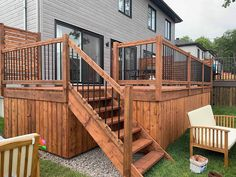Privacy Fence Designs, Backyard Patio Designs, Patio Plus, Pool Deck Plans, Patio Stairs, Rustic Landscaping, Porch Steps, Deck With Pergola, Decks And Porches