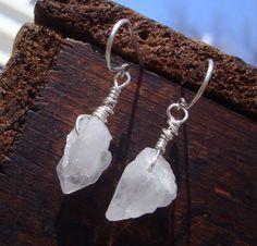 Crush. Large raw quartz crystal nuggets by needfulThingsJewelry, $18.00