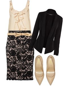 """""""Interview Outfit: Professional yet Feminine"""" by karrina-renee-krueger ❤ liked on Polyvore"""