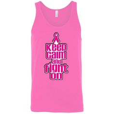 Men's Tank Top Breast Cancer Awareness Keep Calm & Fight On