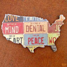 Do it Yourself US Map Wall Art | Morena's Corner