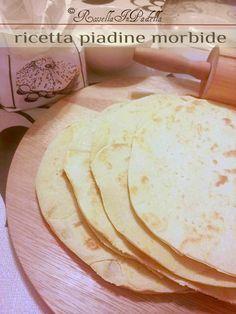 Piadine morbide, ricetta base