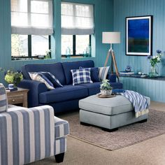 27 Cozy Sofa and Chair Ideas for Coastal Living Rooms # Room Ideas Living Room Images, Living Room Designs, Living Spaces, Small Living, Modern Living, Coastal Living Rooms, Living Room Decor, Nautical Furniture, Living Room Color Schemes