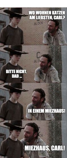 Rick and Carl The Walking Dead Funny Meme Memes Humor, Twd Memes, Funny Jokes, Hilarious, Cosby Memes, Bad Dad Jokes, Funny Dad, Walking Dead Funny, Carl The Walking Dead