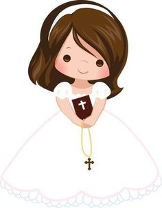 First Communion Eucharist , others, girl carrying rosary illustration PNG clipart Première Communion, First Communion Party, Baptism Party, First Holy Communion, Communion Centerpieces, First Communion Decorations, Shower Centerpieces, Baptism Cookies, Holy Communion Invitations