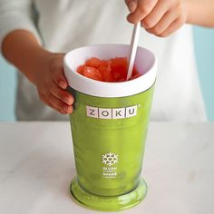 In as little as 7 minutes, you will have 260ml of your very own icy beverage via the Slush and Shake Maker By Zoku, perfect for the summertime.
