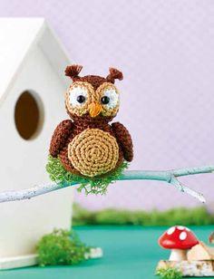 Süße Wald-Minis häkeln (hier Eule Emma)