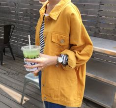 2018 Autumn New Fashion Women Demin Jacket 4 Solid Colors Turn-Down Collar Full Sleeves Loose Size PLus Women Jacket Womens Fashion Online, Latest Fashion For Women, New Fashion, Korean Fashion, Fashion Women, Trending Fashion, Winter Fashion, Fashion Trends, Demin Jacket