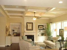 Love the beams on the ceiling! I want them in my next home.