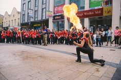 Fire breather @ Special Olympics Ireland 2014 opening Ceremony Special Olympics, Woolen Mills, Opening Ceremony, Times Square, Ireland, Tower, Fire, Gallery, Rook