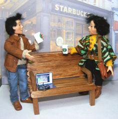 Handmade ooak artist original Asian couple by The Rogue Fairy