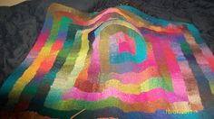 Noro yarn was used for this ten stitch blanket but any worsted weight left overs would work well.