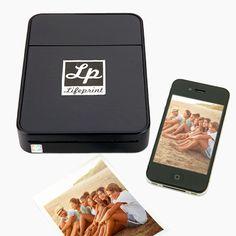 Really cool idea!  LifePrint™ | Wireless photo printer for smartphones