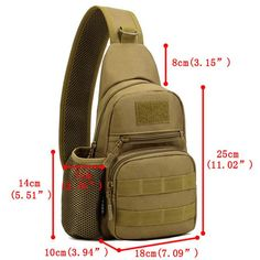 Men's Tactical Shoulder Bag Backpack Sling Chest Bag Assault Pack Messenger Bag is worth buying - NewChic Mobile.