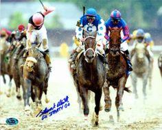 "smarty jones stallion | ... Horse Racing - Smarty Jones Jockey) inscribed ""Go Smarty Go"" Image #4"