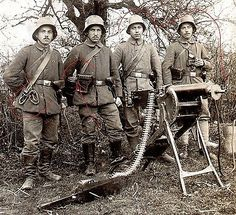 WWI, German soldiers