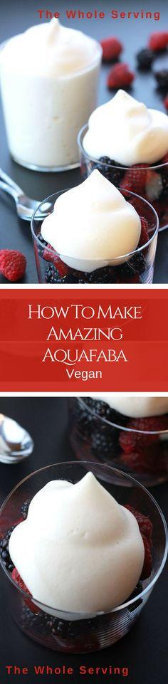How To Make Amazing Whipped Aquafaba